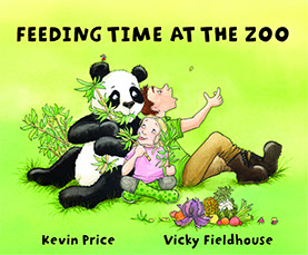 Children's book Feeding time at the Zoo by Kevin Price and Vicky Fieldhouse